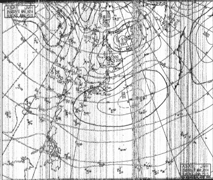 A HF fax of the day's synoptic charts.
