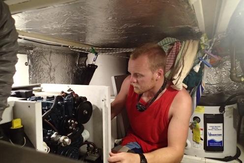 More generator fixing in the sweatbox.