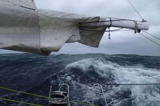 A wild seascape made the sailing challenging.