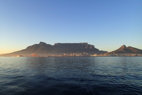 Table Mountain providing a backdrop to our entry.
