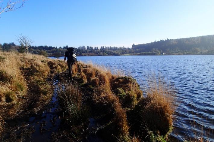 Skirting round Fenworthy Reservoir.