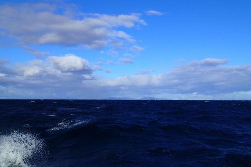 Our first Bass Strait venture was done in great weather.