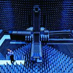 UP CLOSE: Blue Room by @alastairwiper – This is the Radio Anechoic Chamber at Denmark's Technical University. The blue spikes are filled with carbon powder that stop radio waves bouncing around the room, so that satellite antennas can be tested in an environment similar to space. There are lots of these chambers around the world, and apparently they all used to be black. Then someone decided it was a bit depressing to work in a black room all day, so now all the rooms are blue. The professor in charge of the chamber has worked there for 12 years, and couldn't really understand why I thought it was so cool. I am glad he decided to wear a blue shirt.