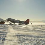"""This is the aircraft that dropped Tarka L'Herpiniere and me at Ross Island for the start of the Scott expedition"" – @polarben reflects on the Kenn Borek Basler BT-67 at Union Glacier base, Antarctica. Photograph by Andy Ward."